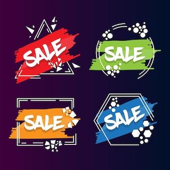 Verkauf aufkleber vektor