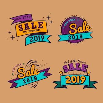Verkauf ausweis-vektorsatz des jahres 2019