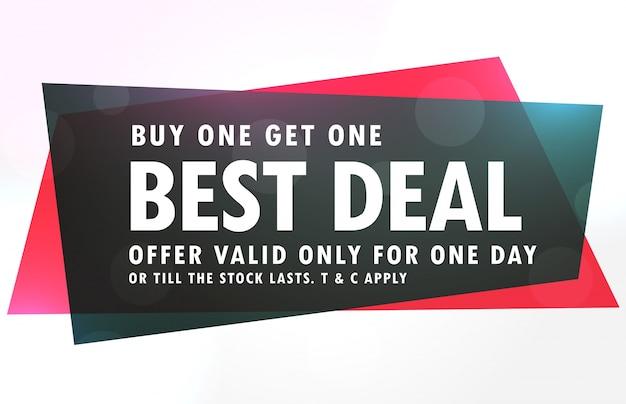 Verkauf banner design in rot und schwarz geometrische form