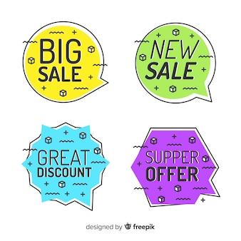 Verkauf banner memphis stil set