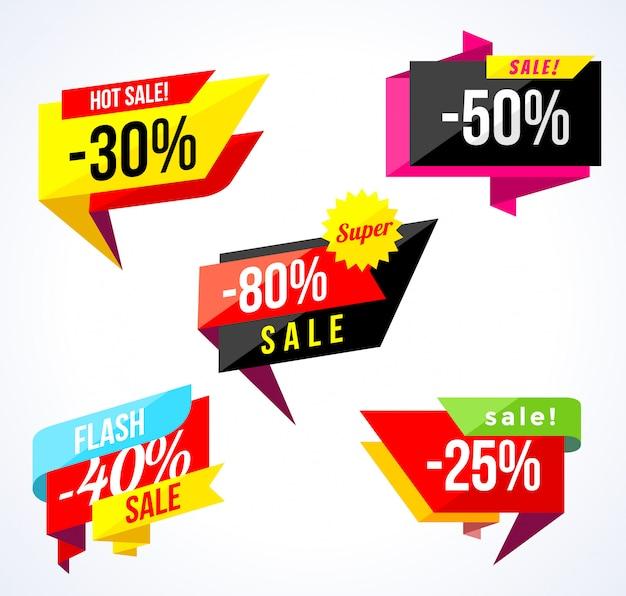 Verkauf-banner-sammlung