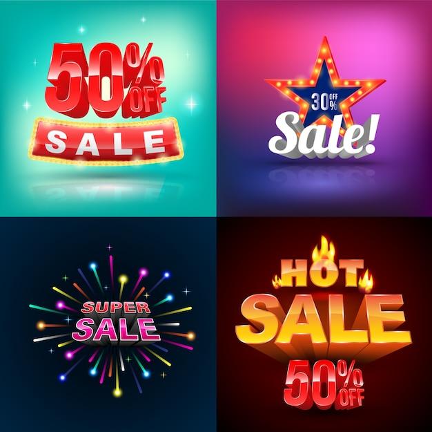 Verkauf-banner-set