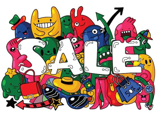 Verkauf banner template-design