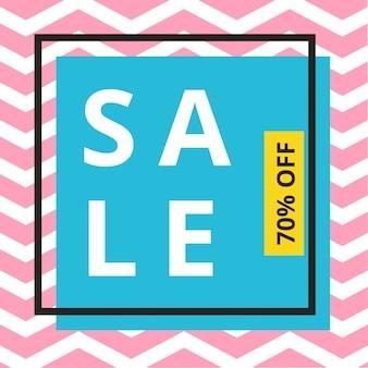 Verkauf banner template design