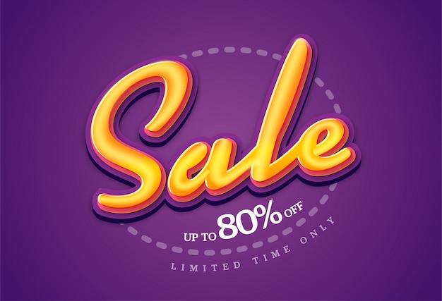 Verkauf banner transparenz vorlage, big sale special bis zu 80% rabatt. super sale, ende der saison sonderangebot banner. illustration.