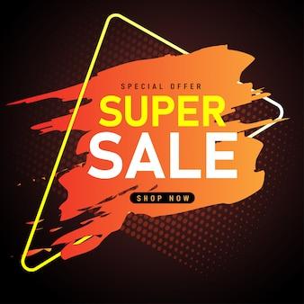 Verkauf banner vorlage design, super sale sonderangebot.