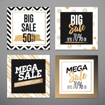 Verkauf banner vorlage design