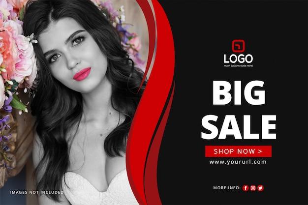 Verkauf banner vorlage