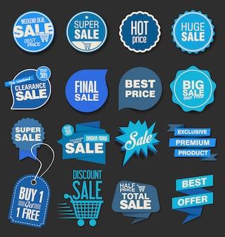 Verkauf banner vorlagen design und sonderangebot tags sammlung