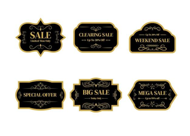 Verkauf banner vorlagen design.