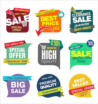 Verkauf banner vorlagen
