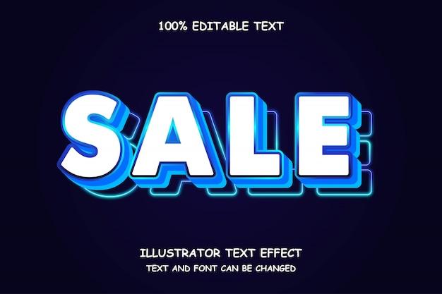 Verkauf, bearbeitbarer texteffekt moderner neonstil