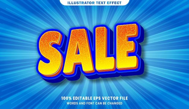 Verkauf bearbeitbarer textstil-effekt