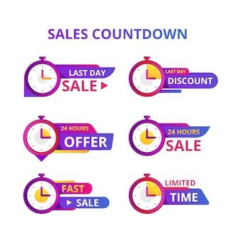 Verkauf countdown banner sammlung