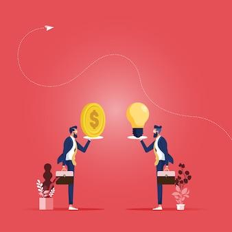 Verkauf der ideenillustration