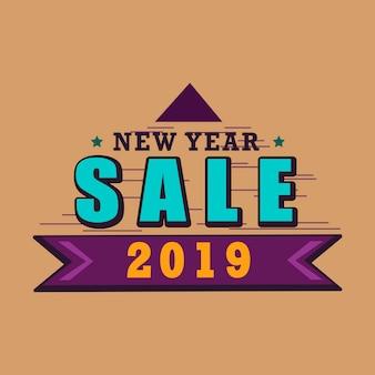 Verkauf emblem vektor des neuen jahres 2019