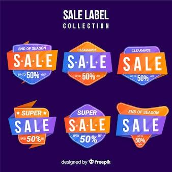 Verkauf etikettenkollektion