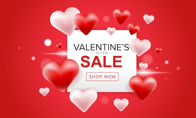Verkauf-fahnendesign des valentinstags