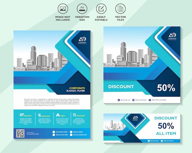 Verkauf flyer aktionen gutschein oder banner design mit besten rabatt angebote vorlage hintergrund