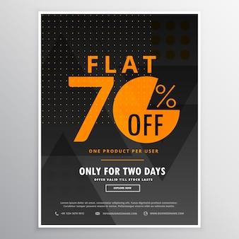 Verkauf flyer werbe banner template-design in dunklen schwarzen farbe