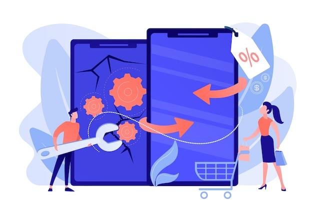 Verkauf gebrauchter geräte, sonderangebot für kunden