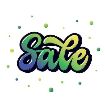 Verkauf, handbeschriftungswort