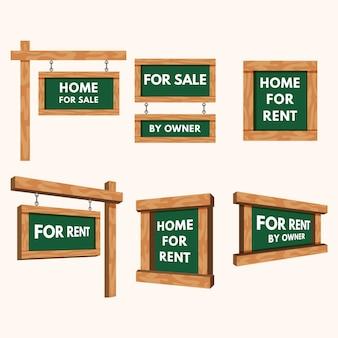 Verkauf immobilienschilder