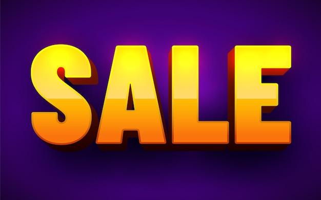 Verkauf inschrift. 3d-wort verkauf.