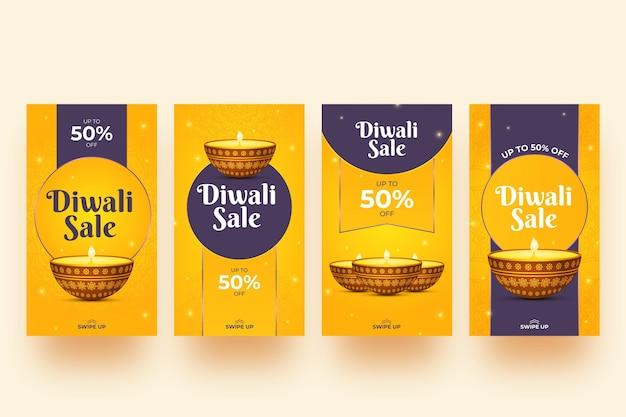 Verkauf instagram geschichte set diwali ereignis