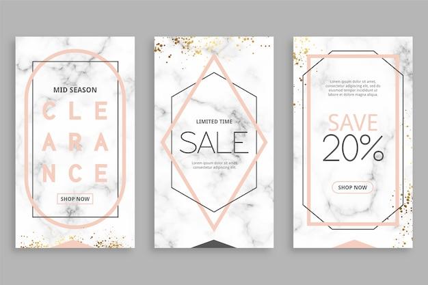 Verkauf instagram geschichten in marmor-stil