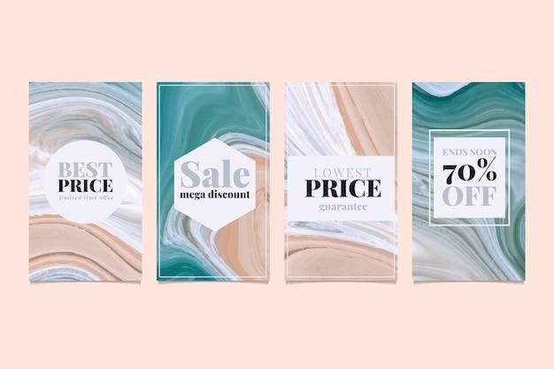 Verkauf instagram geschichten sammlung im marmor-stil