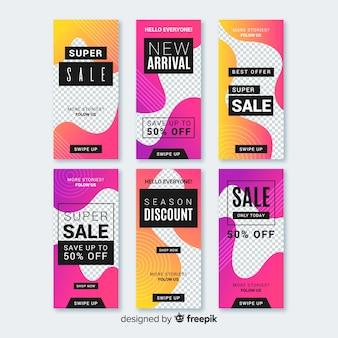 Verkauf instagram geschichten vorlagen sammlung