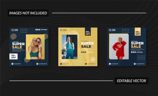 Verkauf instagram post, banner und flyer