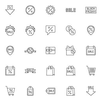 Verkauf liniensymbol stil. marketing, einkauf und verkauf
