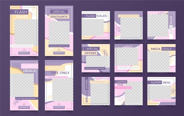 Verkauf neuer post-instagram-vorlage mit transparentem hintergrund