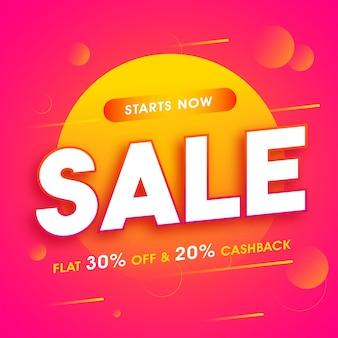 Verkauf poster, banner mit flat discount angebot.