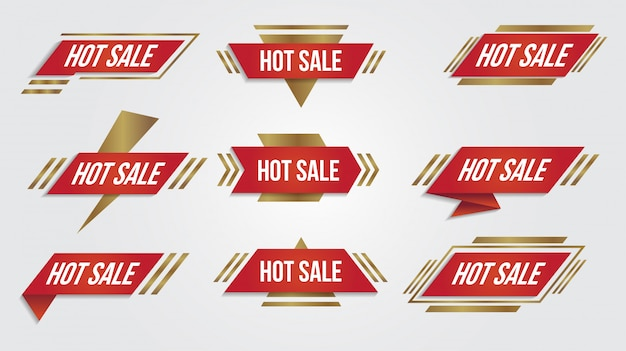 Verkauf rabatt lebel sammlung banner und symbole ecken, etiketten, locken und tabs.