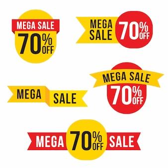 Verkauf, sonderangebot und preisschilder etiketten design