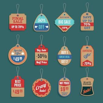 Verkauf-tags-set