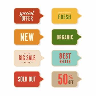 Verkauf und neues tag-label.
