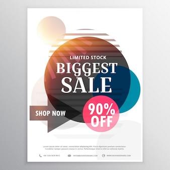 Verkauf und rabatt-gutschein-design