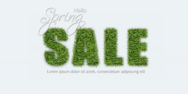 Verkauf unterzeichnen herein grünes gras