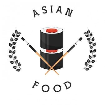 Verkauf von asiatischem essen