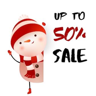 Verkauf von bis zu fünfzig Prozent Plakatgestaltung