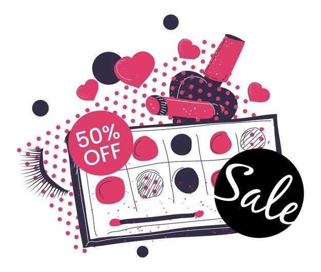 Verkauf von dekorativer kosmetik und rabatte auf make-up
