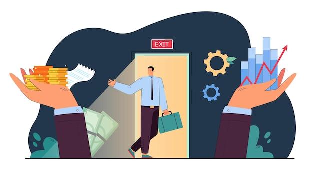 Verkauf von eigentumsrechten metapher flache illustration