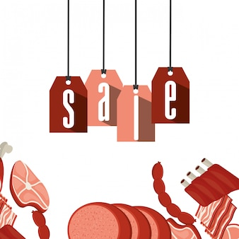 Verkauf von fleischerzeugnissen