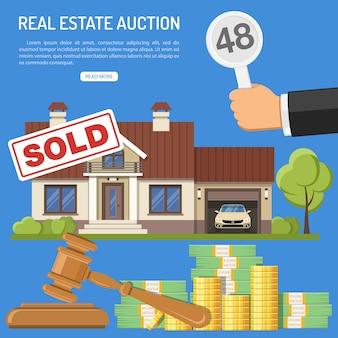 Verkauf von immobilien auf einer auktion