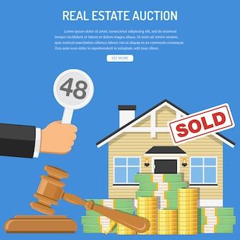 Verkauf von immobilien bei einer auktion