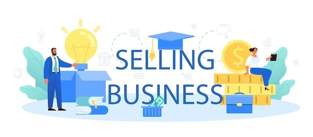 Verkauf von typografischen business-headern